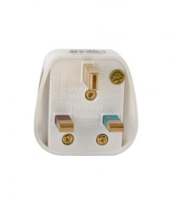 Terminator Top Plug With Fitted 13A Fuse 13A Flat With Light (White)