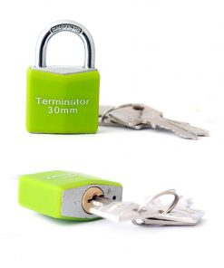 Terminator TPL-3030R 25mm keyed pad lock with blister sealed
